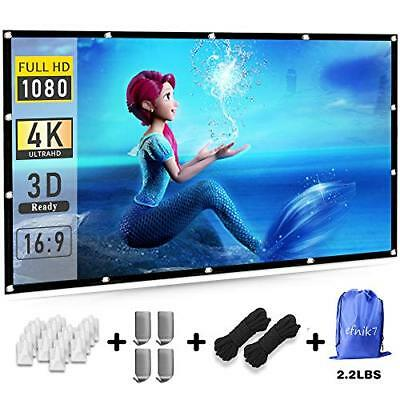 Outdoor Projector Screen,120 inch Portable Projection Screen 16:9 HD Outdoor for