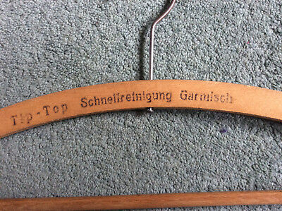 Vintage Advertising Wooden Coat Hanger GARMISCH
