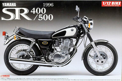 1996 YAMAHA SR 400 / 500 Bike Motorrad in 1:12 Model Kit Bausatz Aoshima 051696