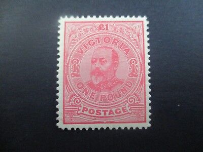 Victoria Stamps: £1 Red Commonwealth Period Mint   (v45)
