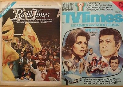 Vintage Radio Times & TV Times Magazines - June 3rd 1978 - World Cup