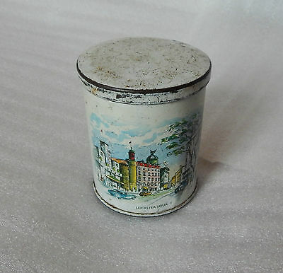 vintage sweet tin 1960's Leicester Square London 7cm diameters 8.5 cm tall