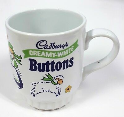 Vintage Child's Mug Cadbury's Dreamy-White Buttons Children's Cup Retro
