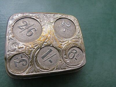 Vintage silver plate coin case