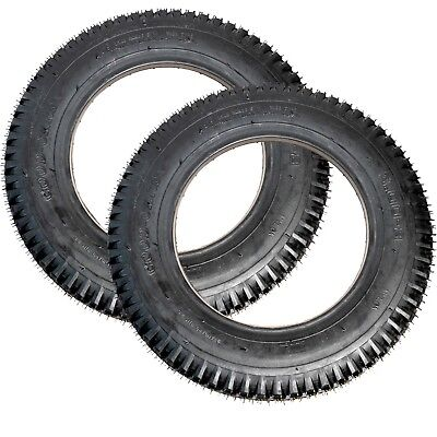 2 x NEW 3-8.00 BLACK PUNCTURE PROOF MOBILITY SCOOTER TYRES - NO MORE PUNCTURES
