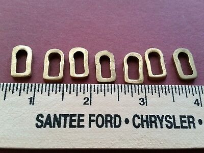 Antique Key Escutcheons - Solid Brass - Lot of 7 pieces