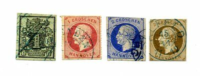 4 x Hannover 1851/1867
