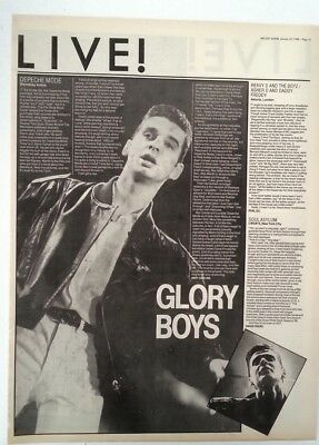 DEPECHE MODE Wembley concert review 1988 UK ARTICLE / clipping