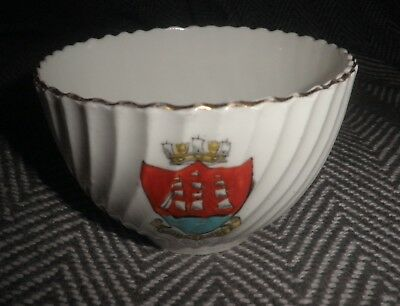 Vintage Royal Vale China Small Bowl With  Morecambe Coat Of Arms Good Condition