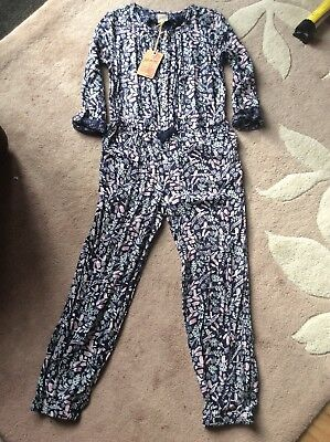 BNWT Girls Blue Patterned Jumpsuit By Mantaray for Debenhams age 9