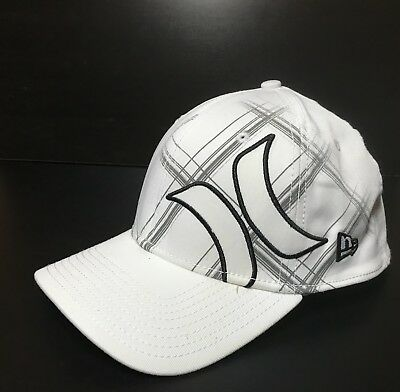 cfc3911a30f HURLEY NEW ERA 39THIRTY ONE   ONLY Hat White ( 27) FLEX Cap NIKE DRI ...