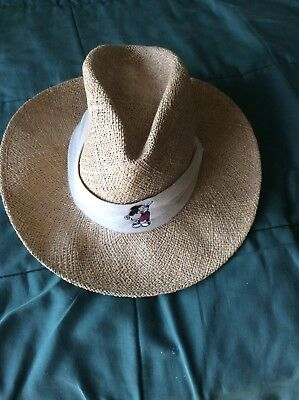 3f4c97ba0df65 Disney Mickey Mouse Panama Hat One Size Fits All Golf Woven Straw Pro  Collection