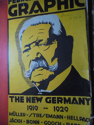 23127 February survey graphic 1929 The new Germany 1919-1929 Poster Fotografie