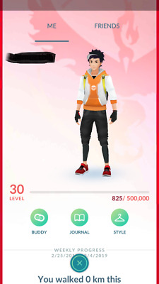 Pokemon-Go-account Level 30 - 2300 Magikarp & Dratini Candies - 600K+ Stardust