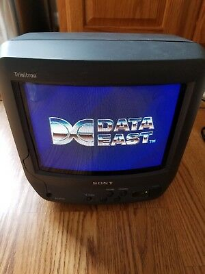 "Sony TV 9"" Trinitron KV-9PT60 CRT Color Retro Gaming Game Video"
