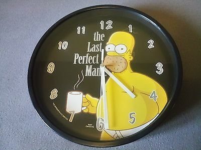The Simpsons - The Last Perfect Man - Wanduhr - GUTER ZUSTAND