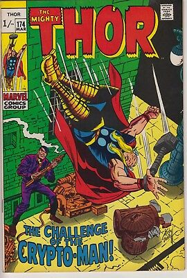 "Thor 174 - 1st appearance  of Crypto-Man. ""The Challenge of the Crypto-Man!"""