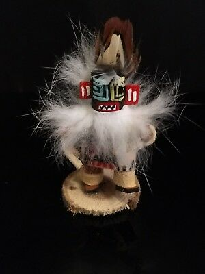"Signed Mini 2"" Native American Navajo  Kachina Doll "" Night Dancer By MC #KNT"