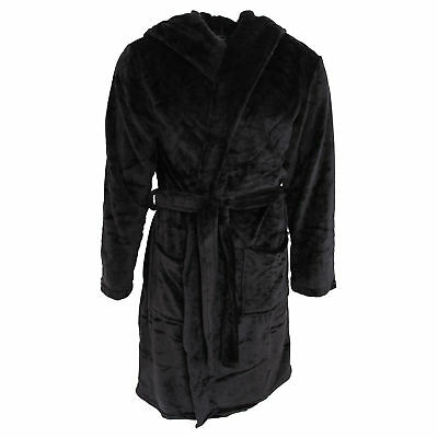Pierre Roche Mens Soft Touch Hooded Dressing Gown (N1160)