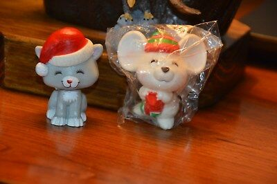 Hallmark Merry Miniatures Lot Of (2). 1980 Kitten-1979 Mouse New In Package