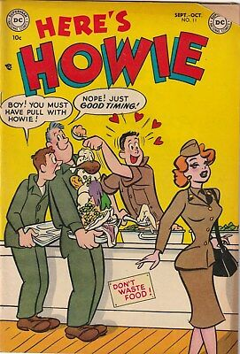 Here's Howie Number 11. 10 Cent Dc. 1953. Teen/army Humour  Gga