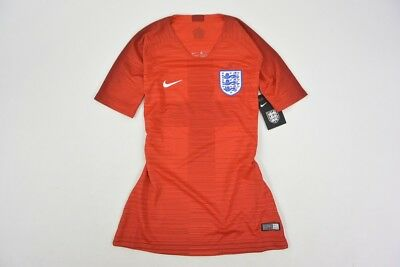 Nike England Away Shirt Football WORLD CUP 2018-19 Red Jersey SIZE S (Ladies)