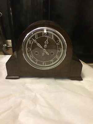 Vintage Smiths Enfield Chiming Mantle Clock.