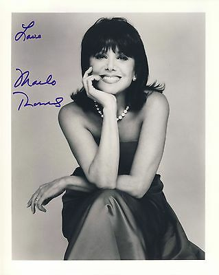 THOMAS, MARLO actress daughter of Danny 8x10 hand-signed autographed photo
