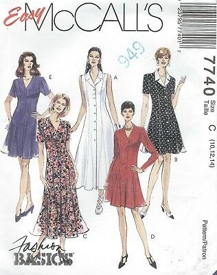 McCall's 7740 Misses' Dress   Sewing Pattern