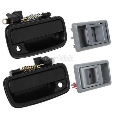 Pairs (LH/RH) Black Front Outside Inner Gary Door Handle For 95-00 Toyota Tacoma