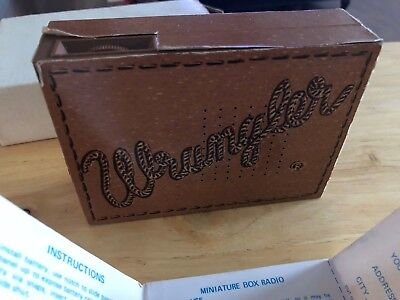 Vintage Hard To Find Wrangler Pocket Transistor Radio Distributed By Wrangler