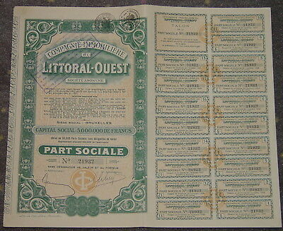 Compagnie Immobiliere du Littoral-Ouest Societe Anonyme 1929