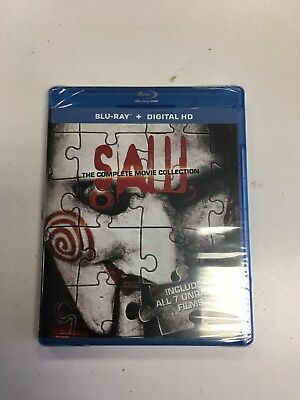 Saw: The Complete Movie Collection (Blu-ray Disc, 2014, 3-Disc Set) BRAND NEW L@