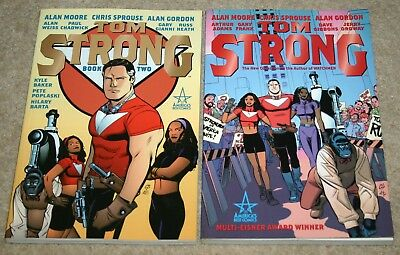 TOM STRONG: Books 1 & 2 - Alan Moore & Chris Sprouse - ABC Paperbacks 2000/2002