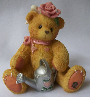 """Cherished Teddies - Rose - """"Everything's Coming Up Roses"""" Figurine 1996 - NEW"""