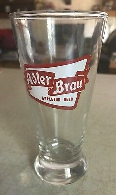 Vintage Adler Brau glass Appleton Wisconsin - sharp!