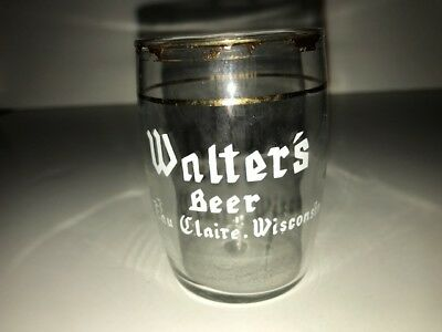 Vintage Walter's Beer nickel sampler short beer glass