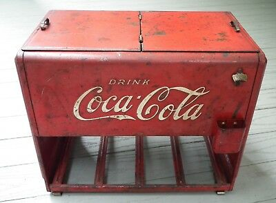 1939 Coca-Cola salesman sample miniature cooler - all original