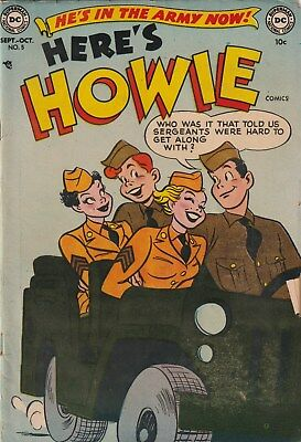 Here's Howie Number 5 10 Cent Dc. 1952. Teen/army Humour  Gga. 1St Army Issue.