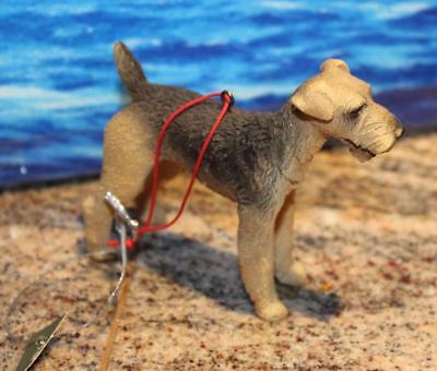 Airedale resin Christmas Ornament 2009