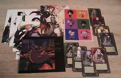Owari no Seraph Seraph of the end (Buch Visual Guide + 8 Karten + Aufkleber +++)
