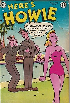 Here's Howie Number 8. 10 Cent Dc. 1953. Teen/army Humour  Gga