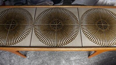 Retro Tiled Coffee table with solid wood frame, very good condition.
