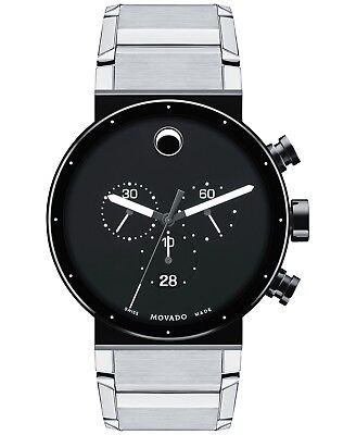 Movado Sapphire Synergy SWISS Chronograph Stainless Steel Men's Watch 0606800
