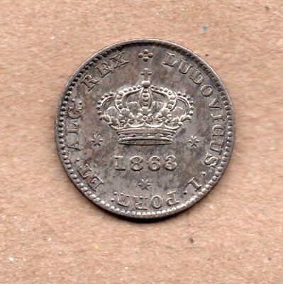 Portugal - 50 Reis - 1/2 Tostao - Luis I - 1863 - Silver Coin