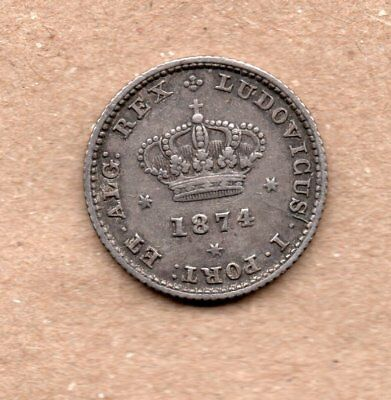 Portugal - 50 Reis - 1/2 Tostao - Luis I - 1874 - Silver Coin