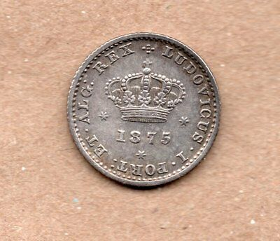 Portugal - 50 Reis - 1/2 Tostao - Luis I - 1875 - Silver Coin