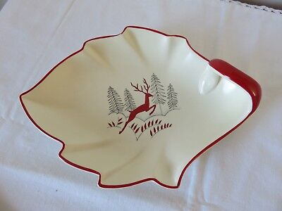 Crown Devon Stockholm Leaf Dish