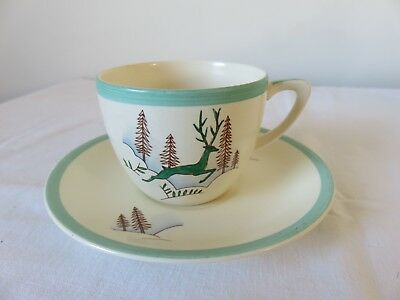Crown Devon Greenland/Stockholm Coffee Cup & Saucer