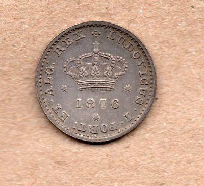 Portugal - 50 Reis - 1/2 Tostao - Luis I - 1876 - Silver Coin